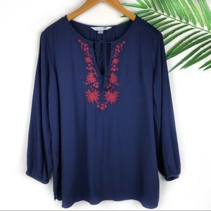 Old Navy Embroidered Tunic Large